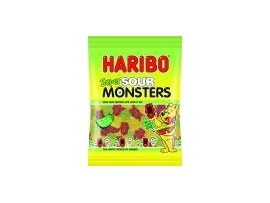 HARIBO Super Sour Monsters vaisiniai guminukai, 160g